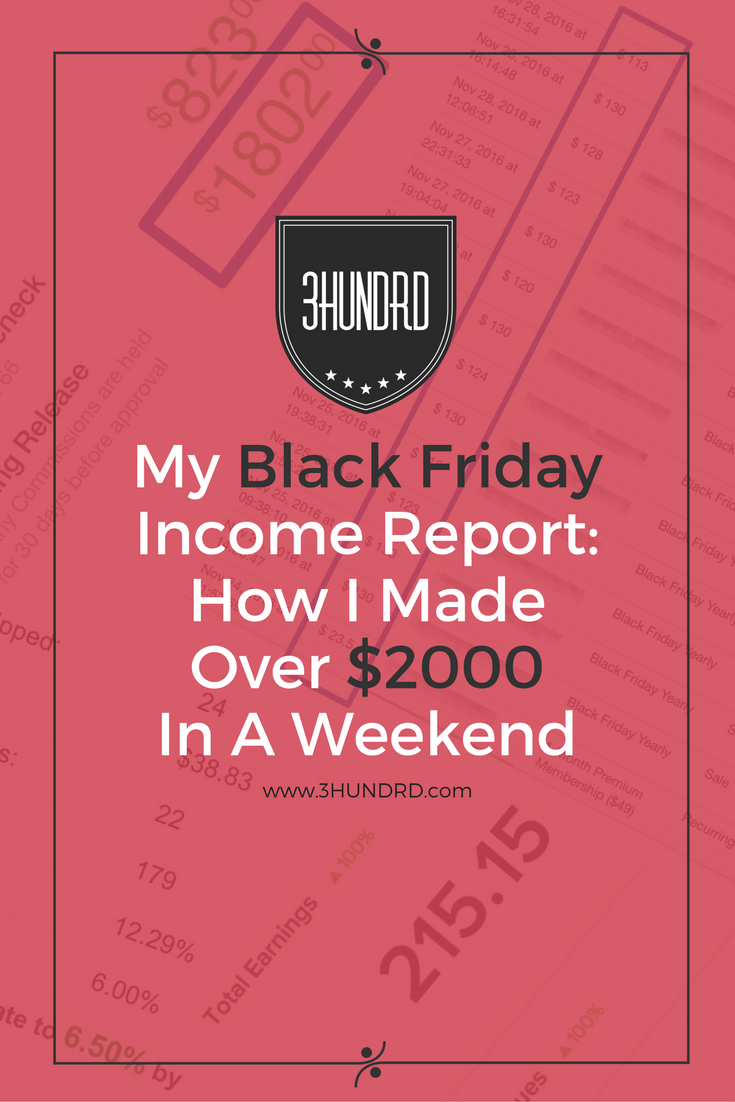 Black Friday Income Report- How I Made Over $2000 In A Weekend