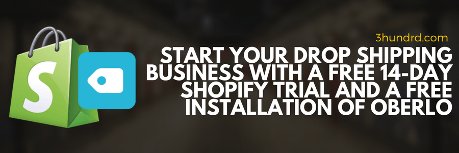 get started with oberlo and shopify