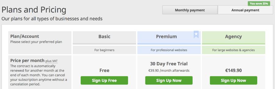 seobility pricing