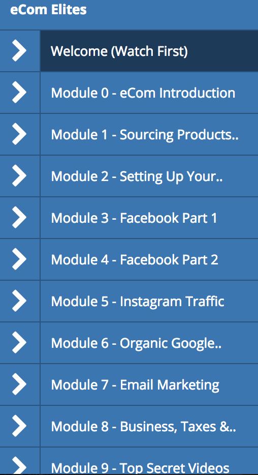 ecom elites training modules