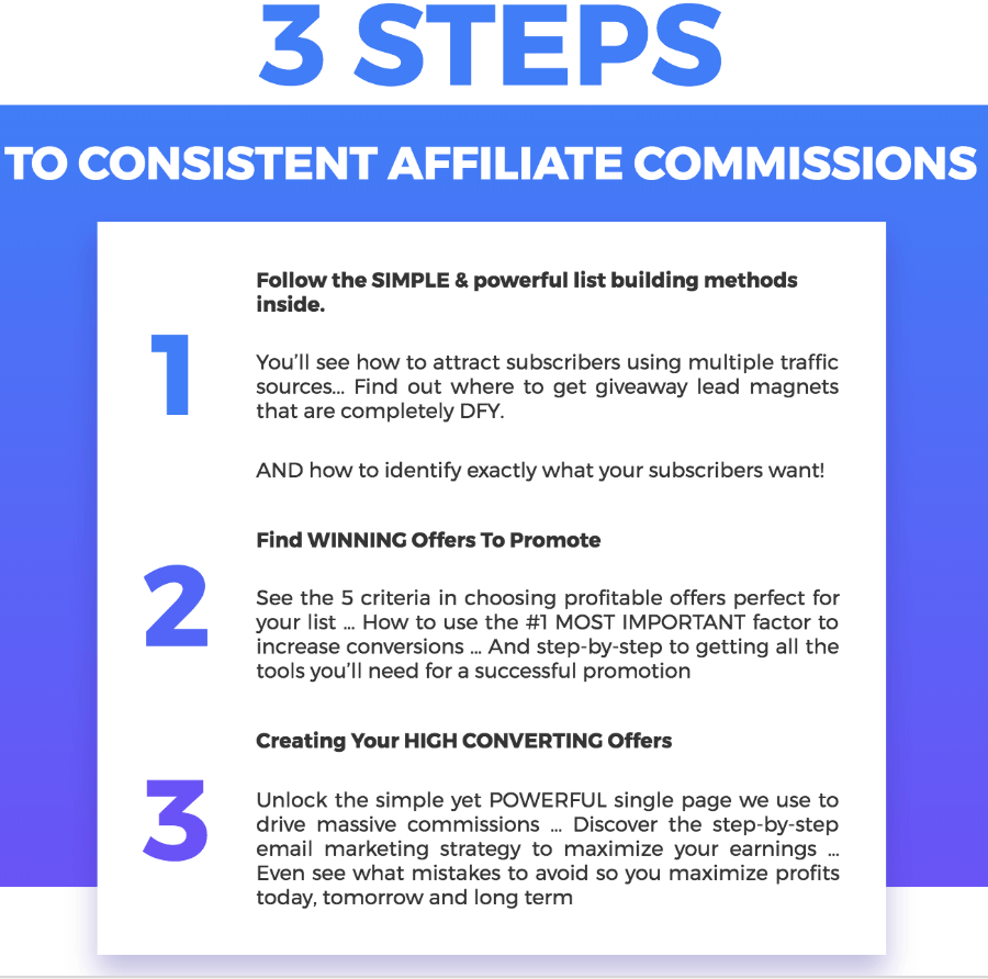 3 steps to become the million dollar affiliate