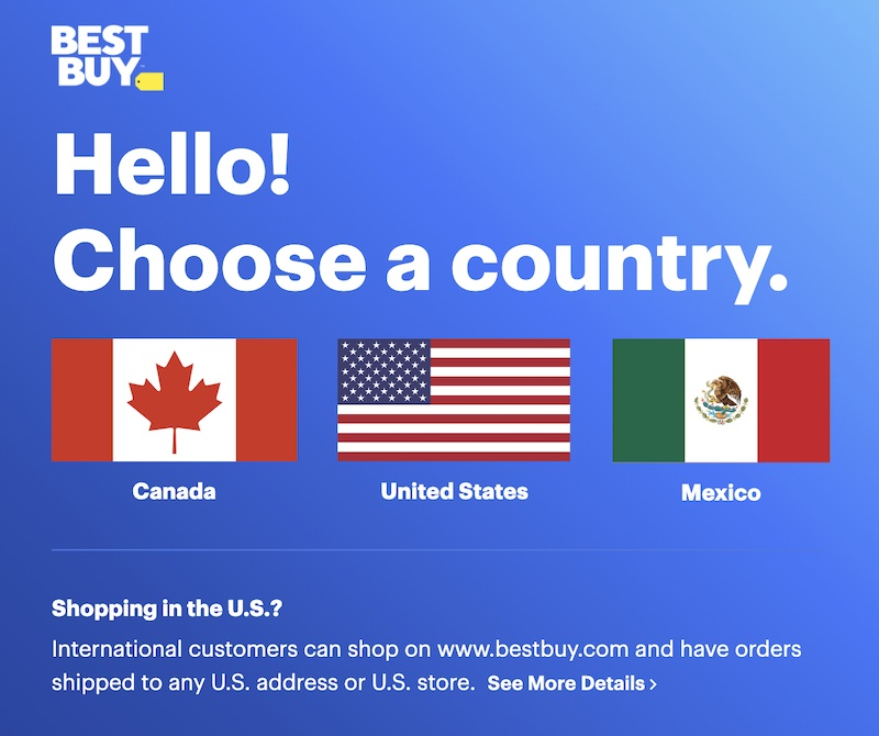 Best Buy Ships To North America Only