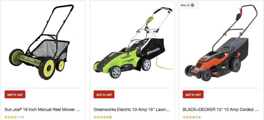 lawn mowers target