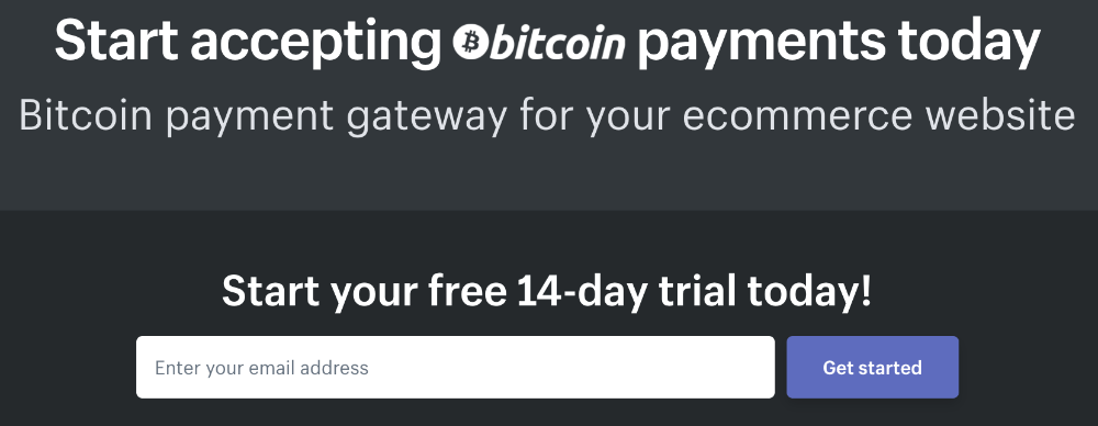 shopify bitcoin page