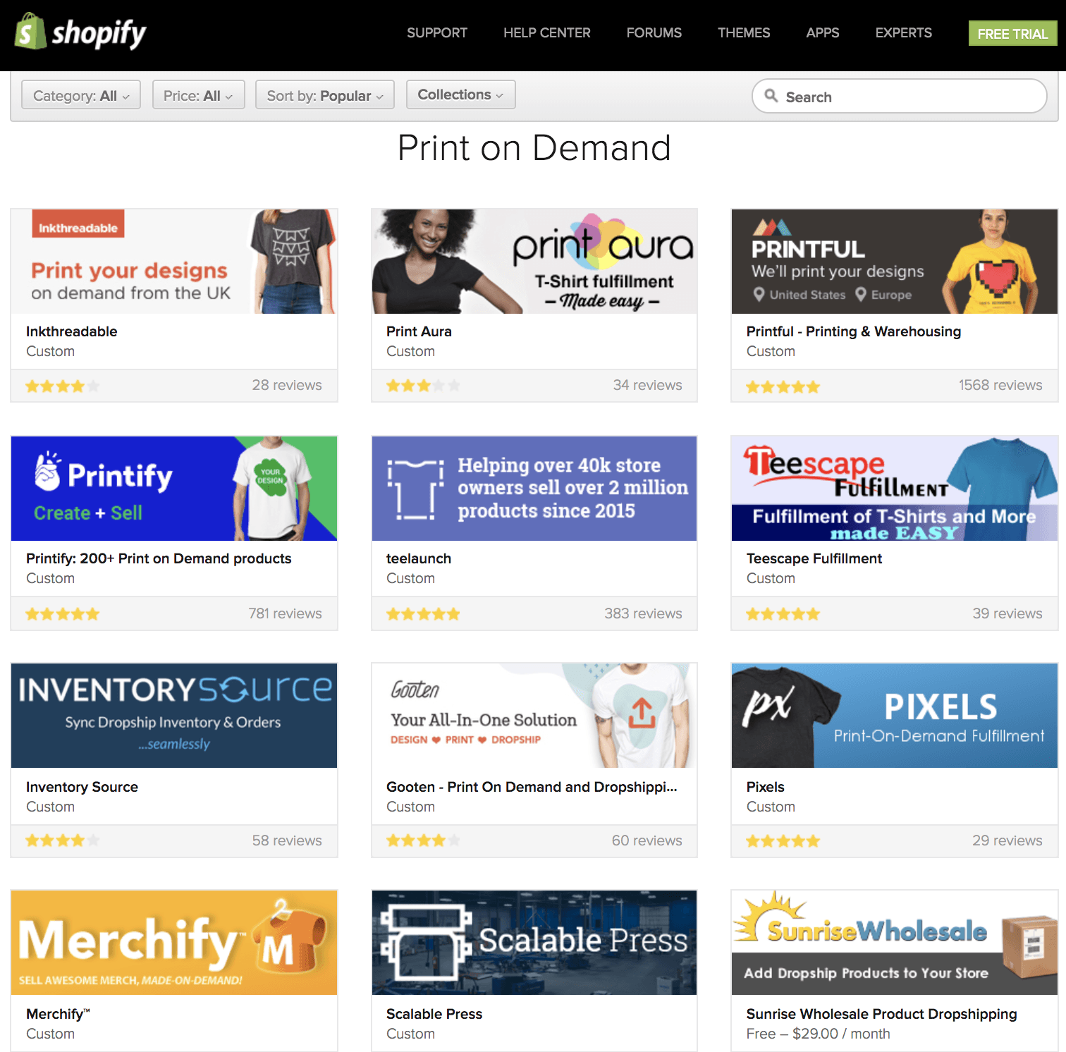 Print on Demand apps on shopify