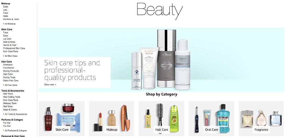 amazon associates beauty products
