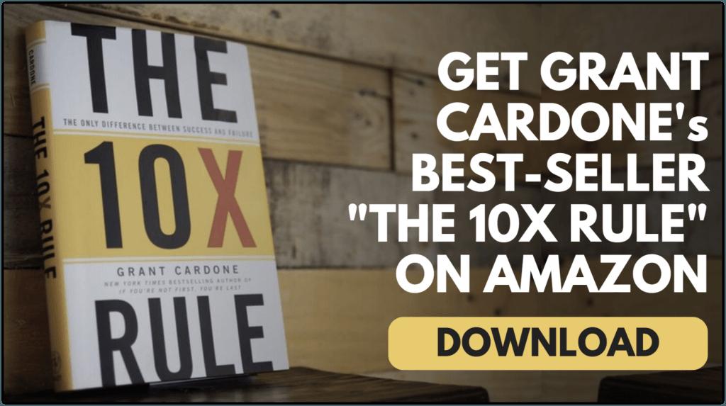 grant cardone 10X Rule Book Amazon