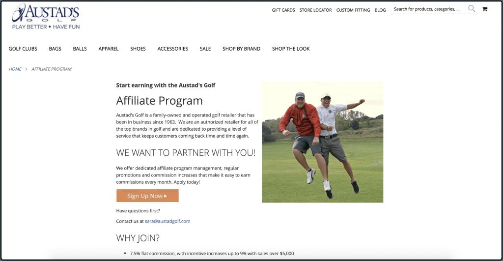 Austads Golf Affiliate Program