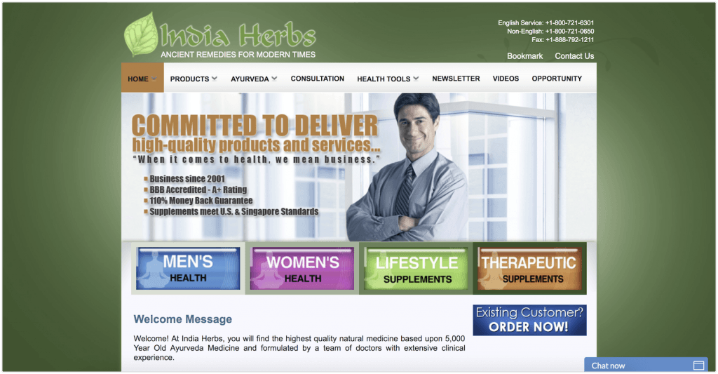 India Herbs Affiliate Program review