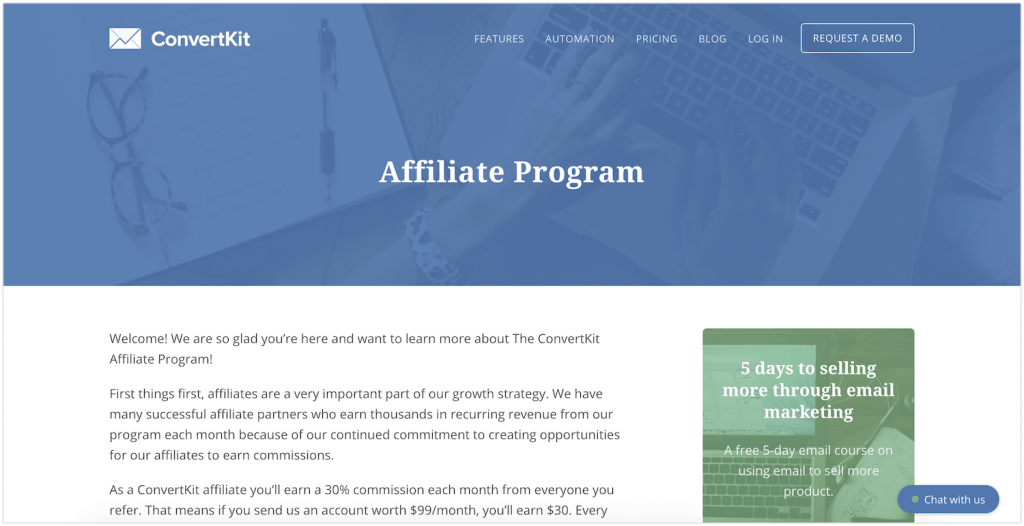 convert kit affiliate program review