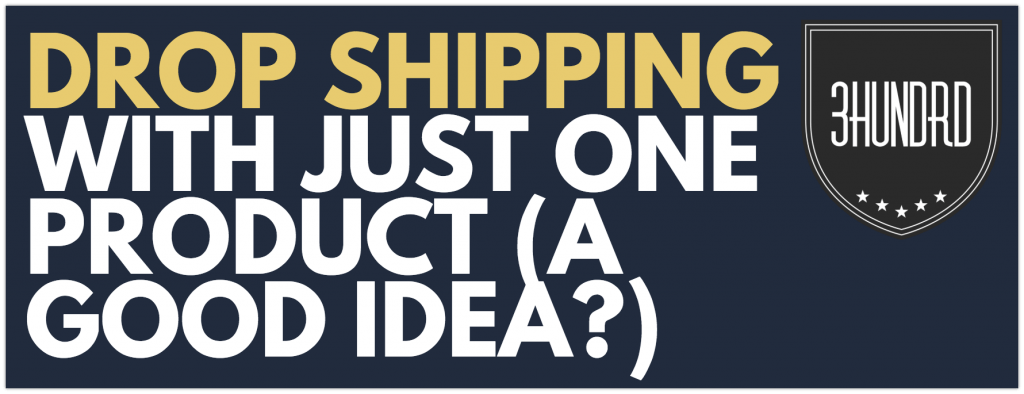 dropshipping with just one product