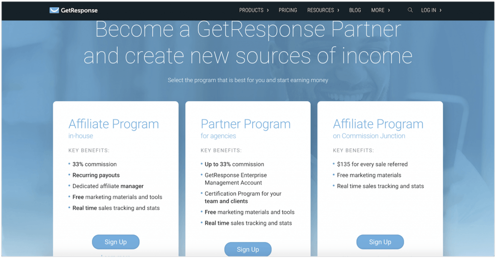 get response affiliate program review