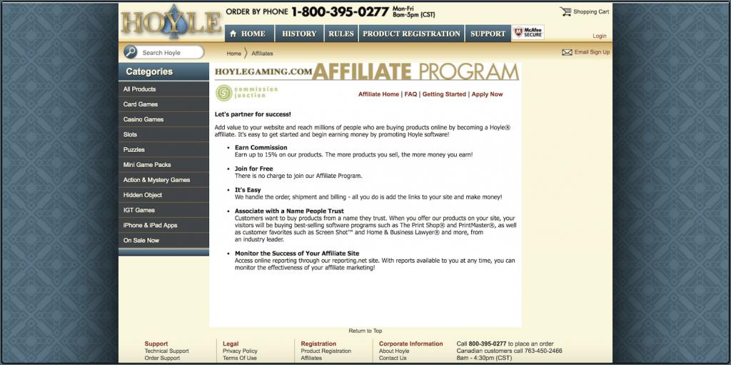 hoyle affiliate program