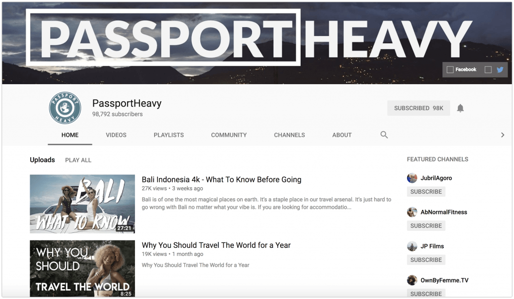 passport heavy youtube channel
