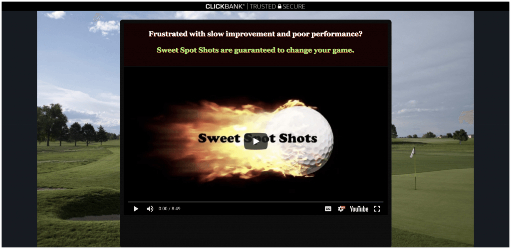 sweet spot golf affiliate program