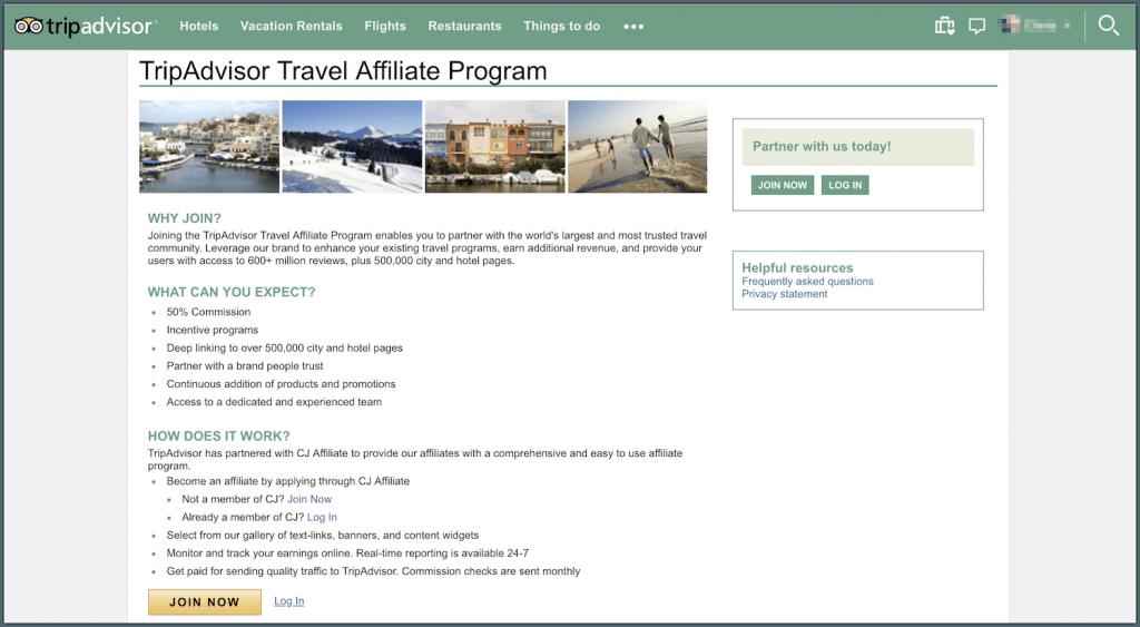 trip advisor affiliate program