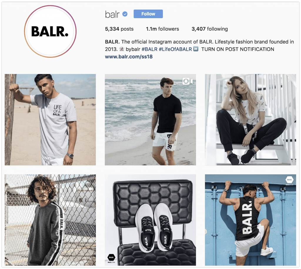 BALR. instagram pages