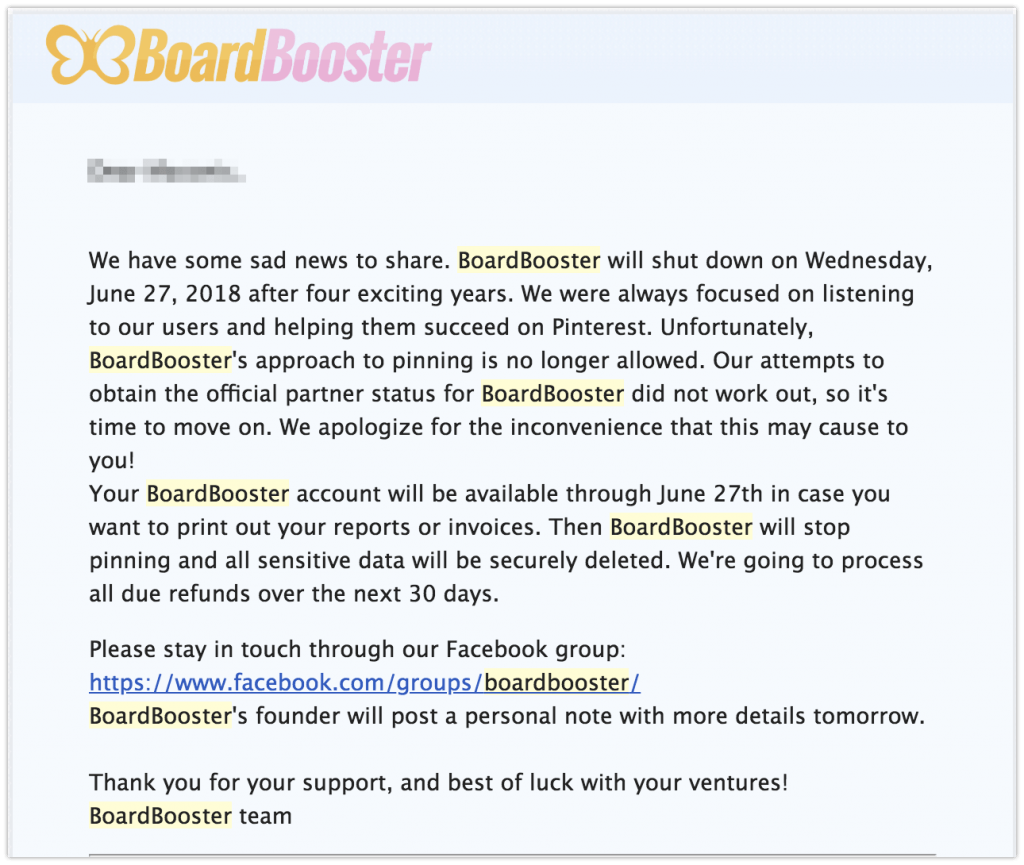 BoardBooster Shutting Down