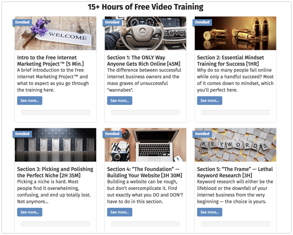 FIMP affiliate marketing training course