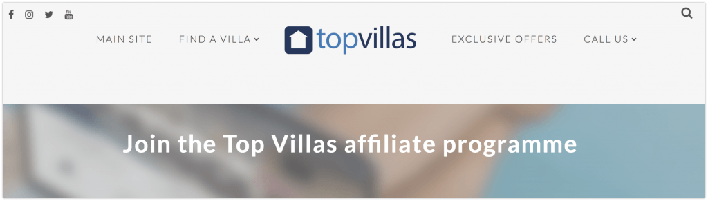 Join the Top Villas affiliate programme