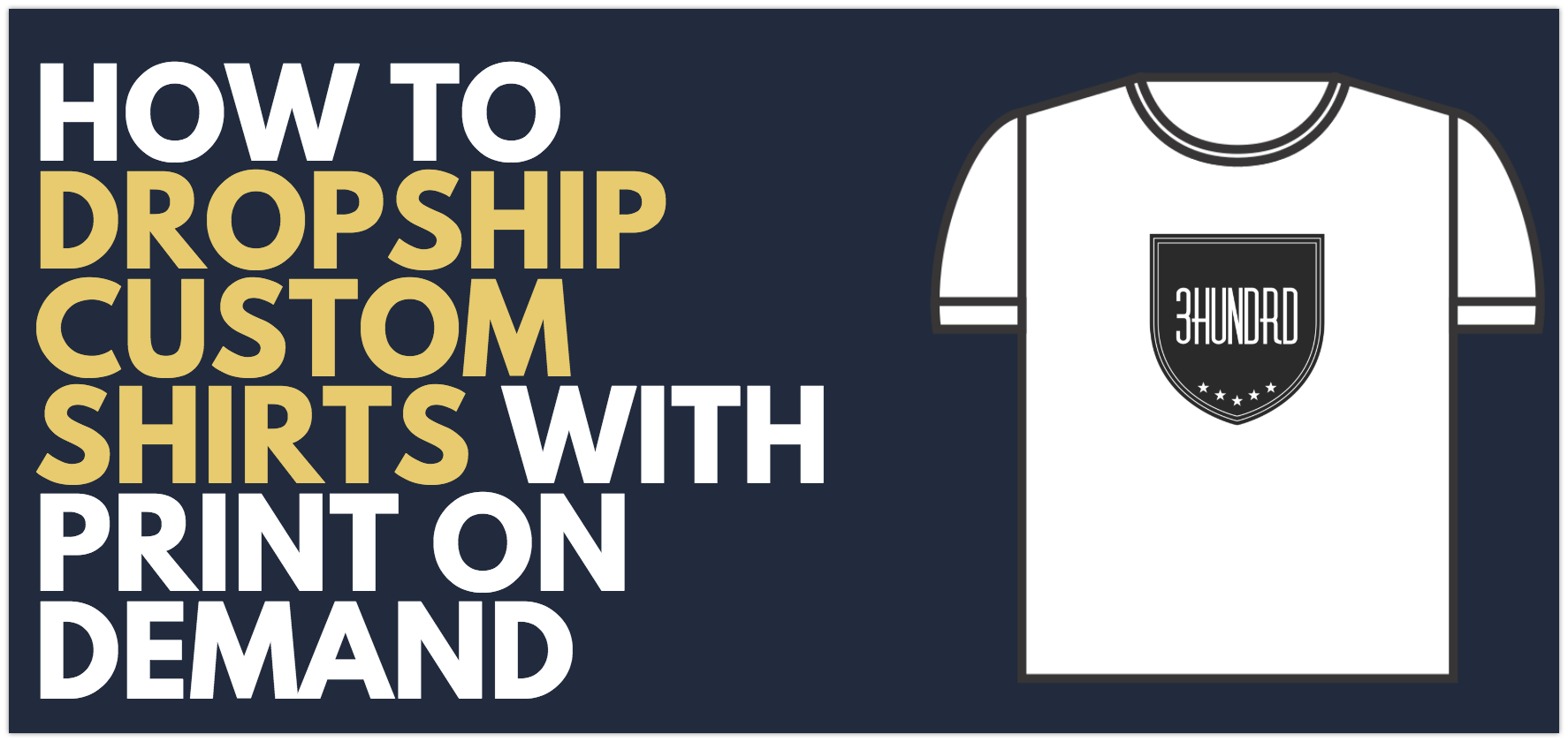 how to dropship custom t shirts with print on demand