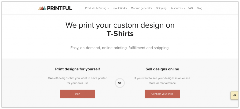 printful print on demand app
