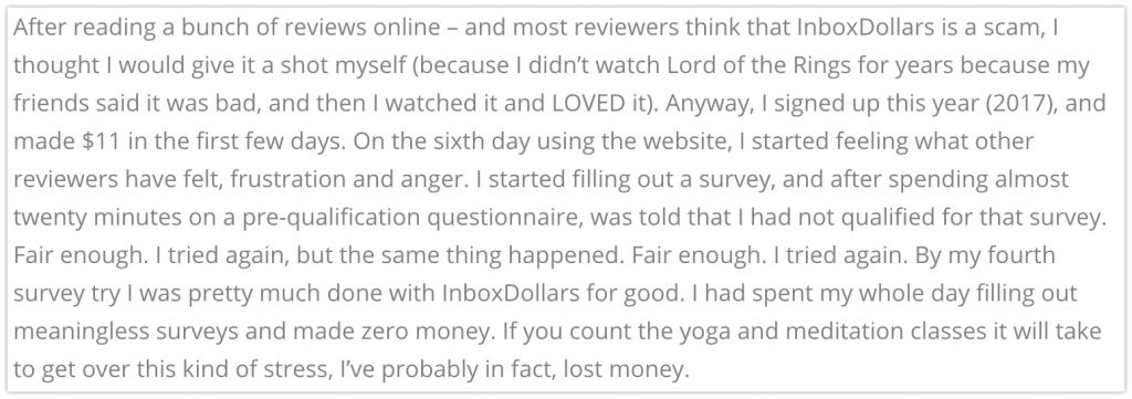 InboxDollars Customer Complaints