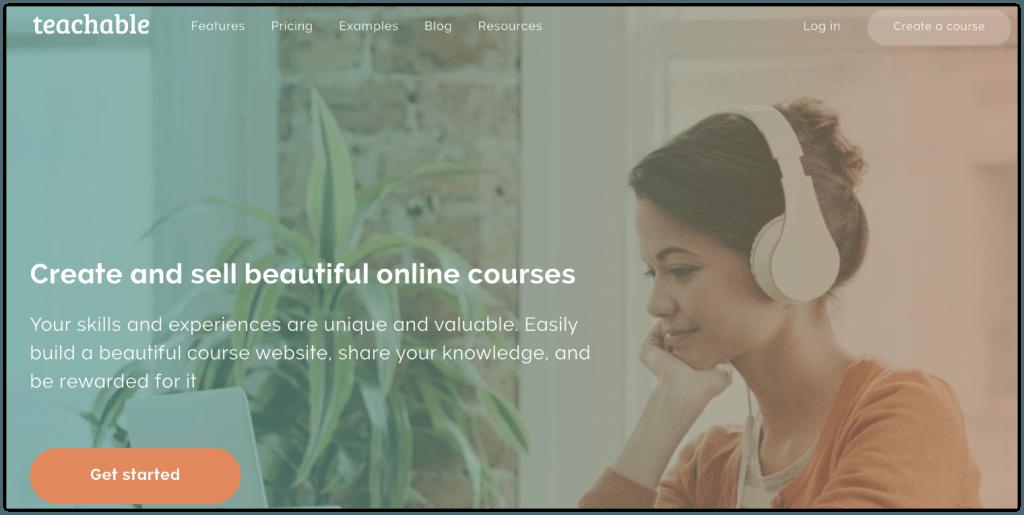 create a course with teachable