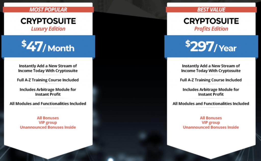 cryptosuite prices