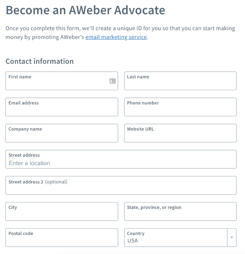how to become an aweber affiliate