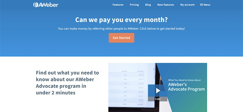 my aweber affiliate program review