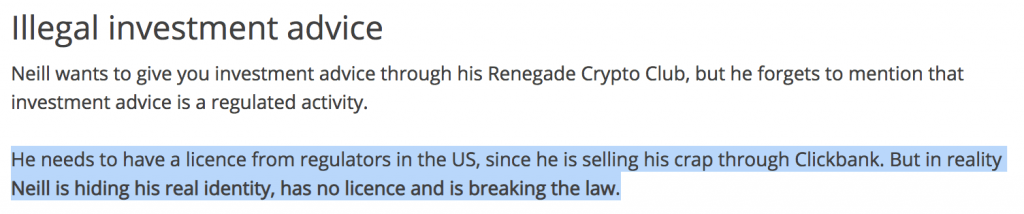 Renegade Crypto Club is a scam