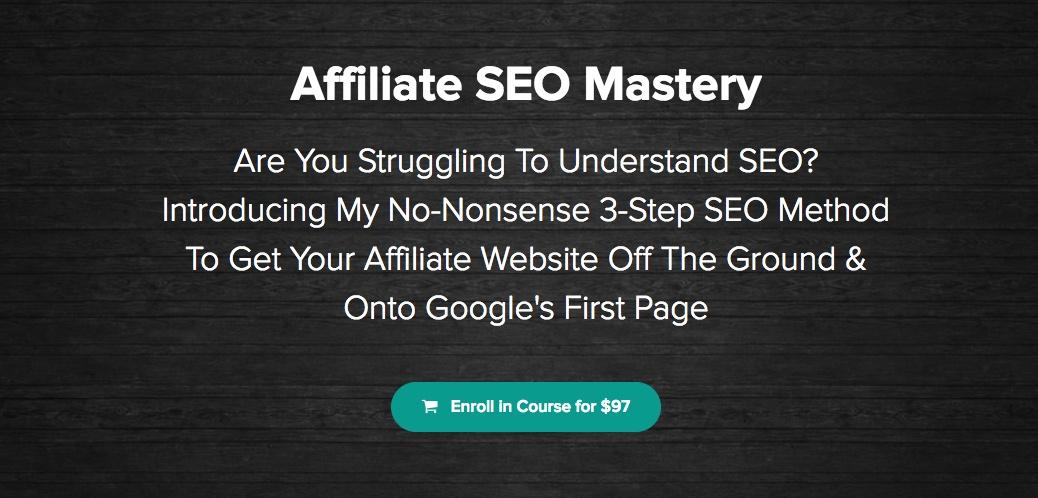 Affiliate SEO Mastery homepage