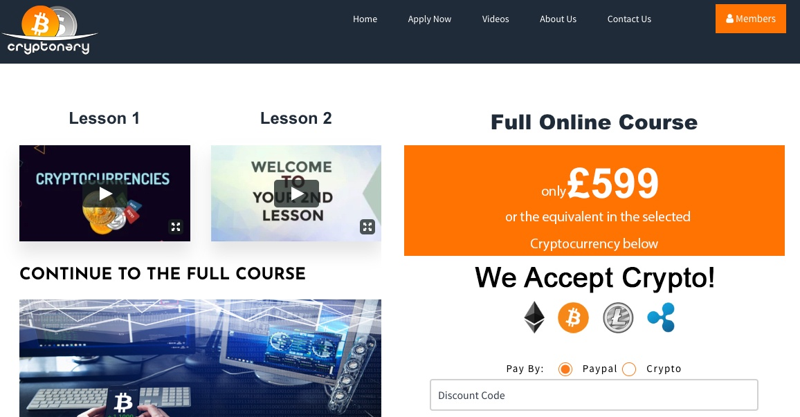 Cryptonary course homepage
