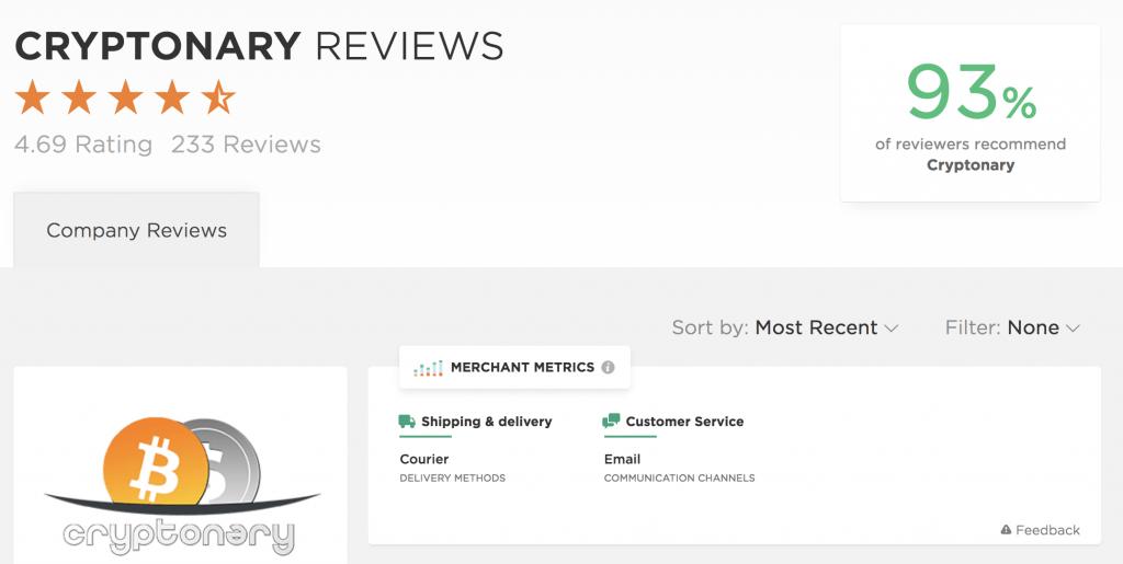Cryptonary member Reviews