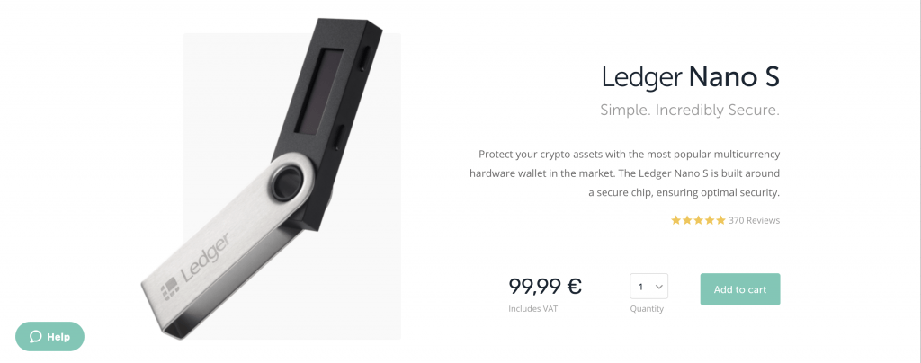 Ledger Nano S Website