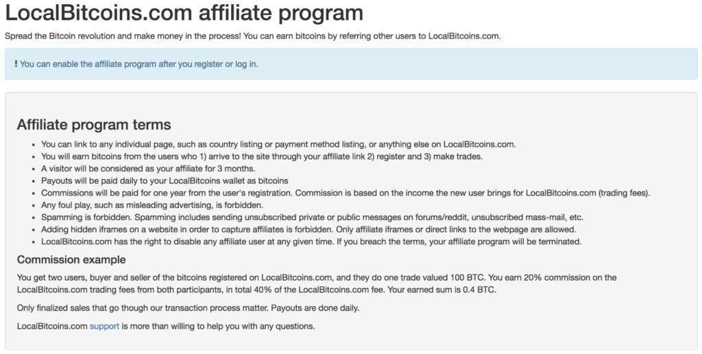 LocalBitcoins affiliate program