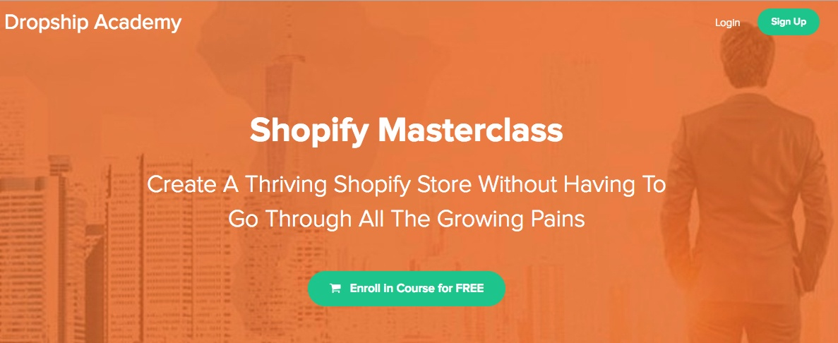 Shopify Masterclass homepage