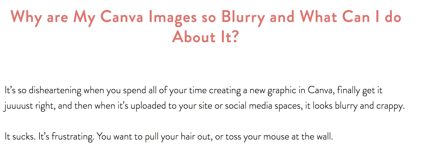 blurry images from canva
