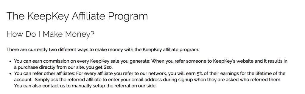 keepkey affiliate program