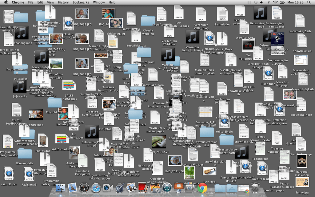 messy mac desktop