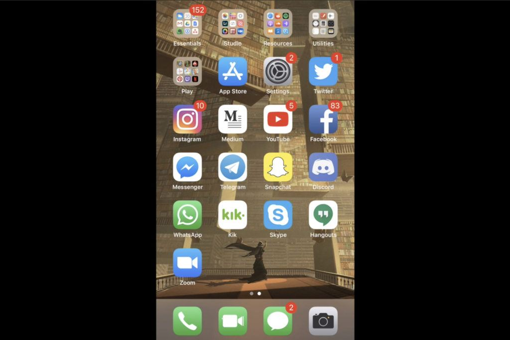 organised iphone screen