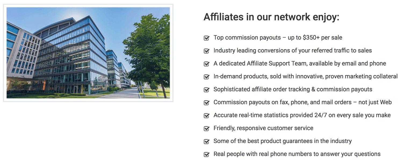 SellHealth.com affiliate benefits