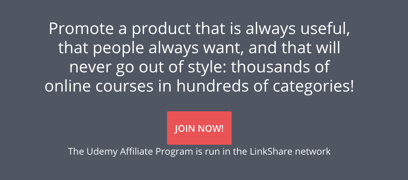 Udemy Affiliates Program review