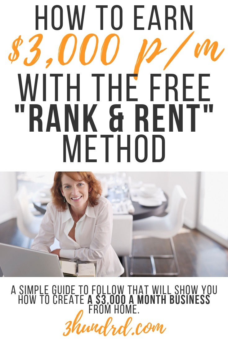 how to use the rank and rent method money