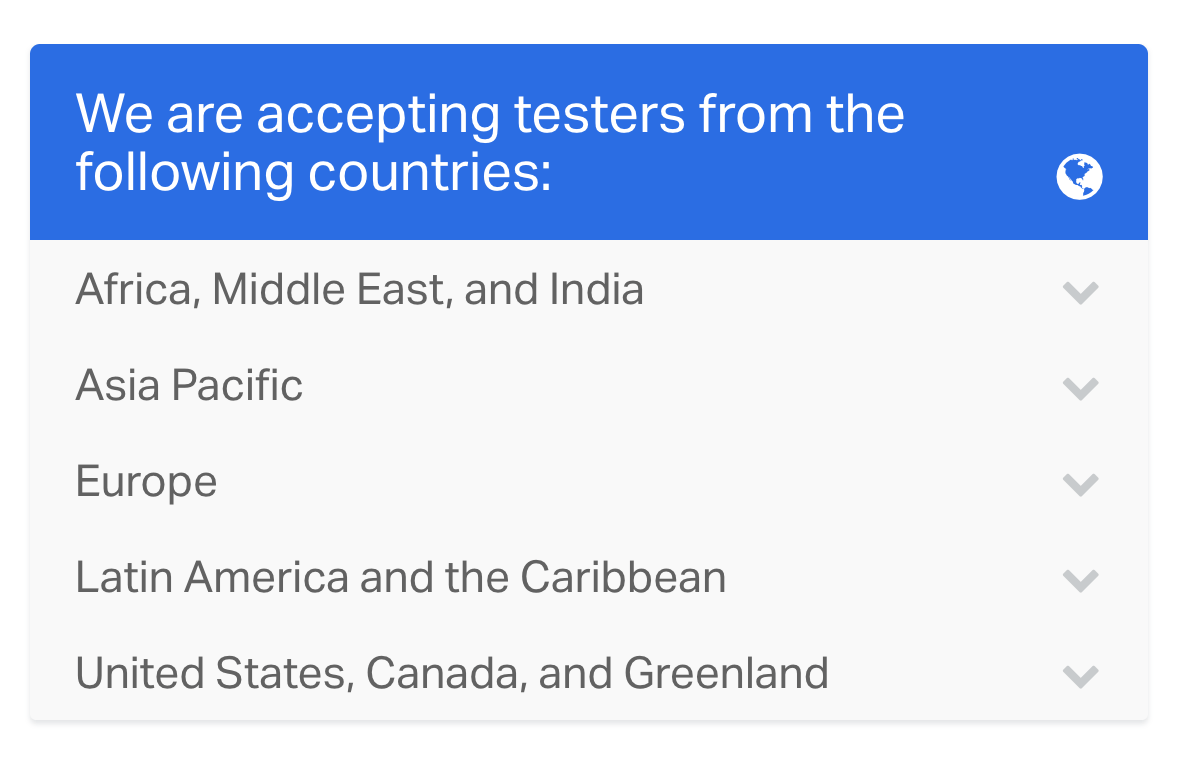 is usertesting available worldwide