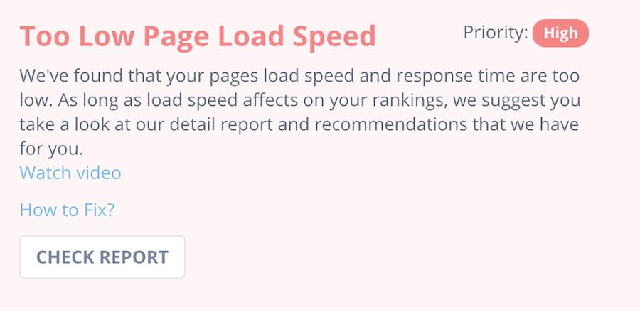 page speed seomator