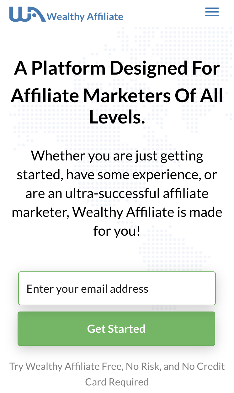 try the wealthy affiliate platform for fee