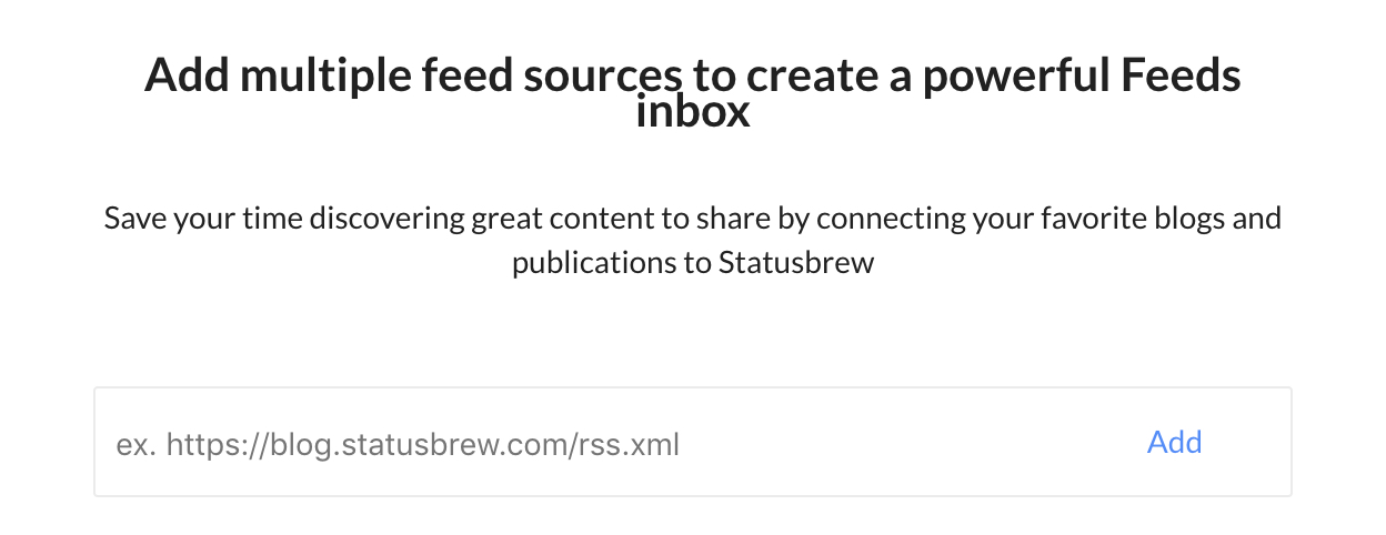 using rss feeds with statusbrew