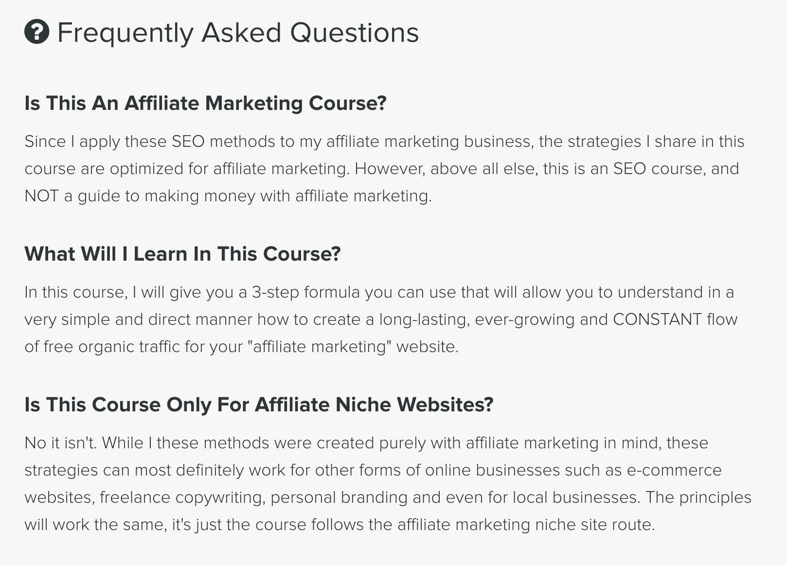 Affiliate SEO Mastery FAQs